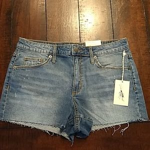 Universal thread high-rise shortie shorts size 10